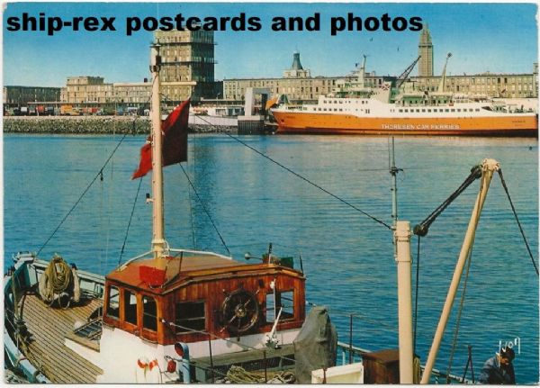 VIKING II (Thoresen Car Ferries) at Le Havre postcard (a)